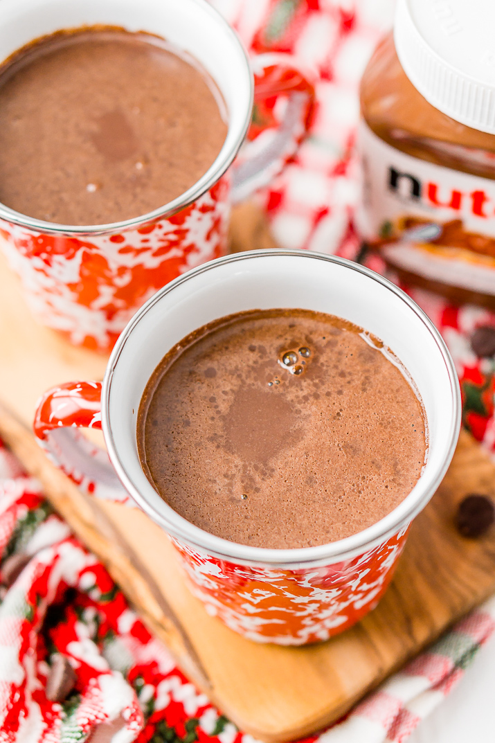 Nutella Hot Chocolate is a rich and creamy hot drink that takes your favorite chocolate hazelnut spread to a whole new level!