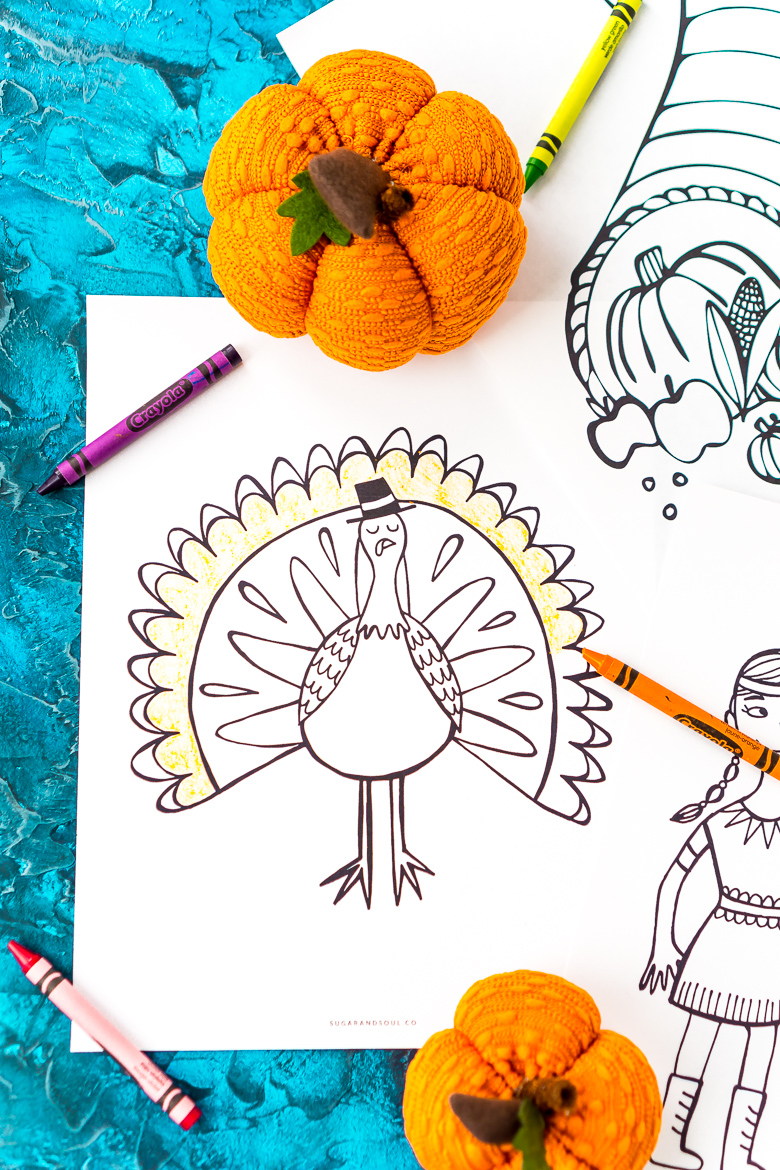 These Free Thanksgiving Coloring Pages are an easy way to add entertainment to your child's schedule during the holiday season!