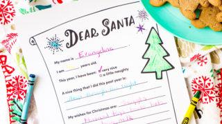 Letter To Santa - Free Printable