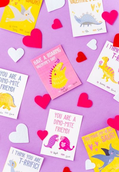 Make Valentine's Day a breeze with these Printable Dinosaur Valentine Cards with cute sayings your kids will love giving.