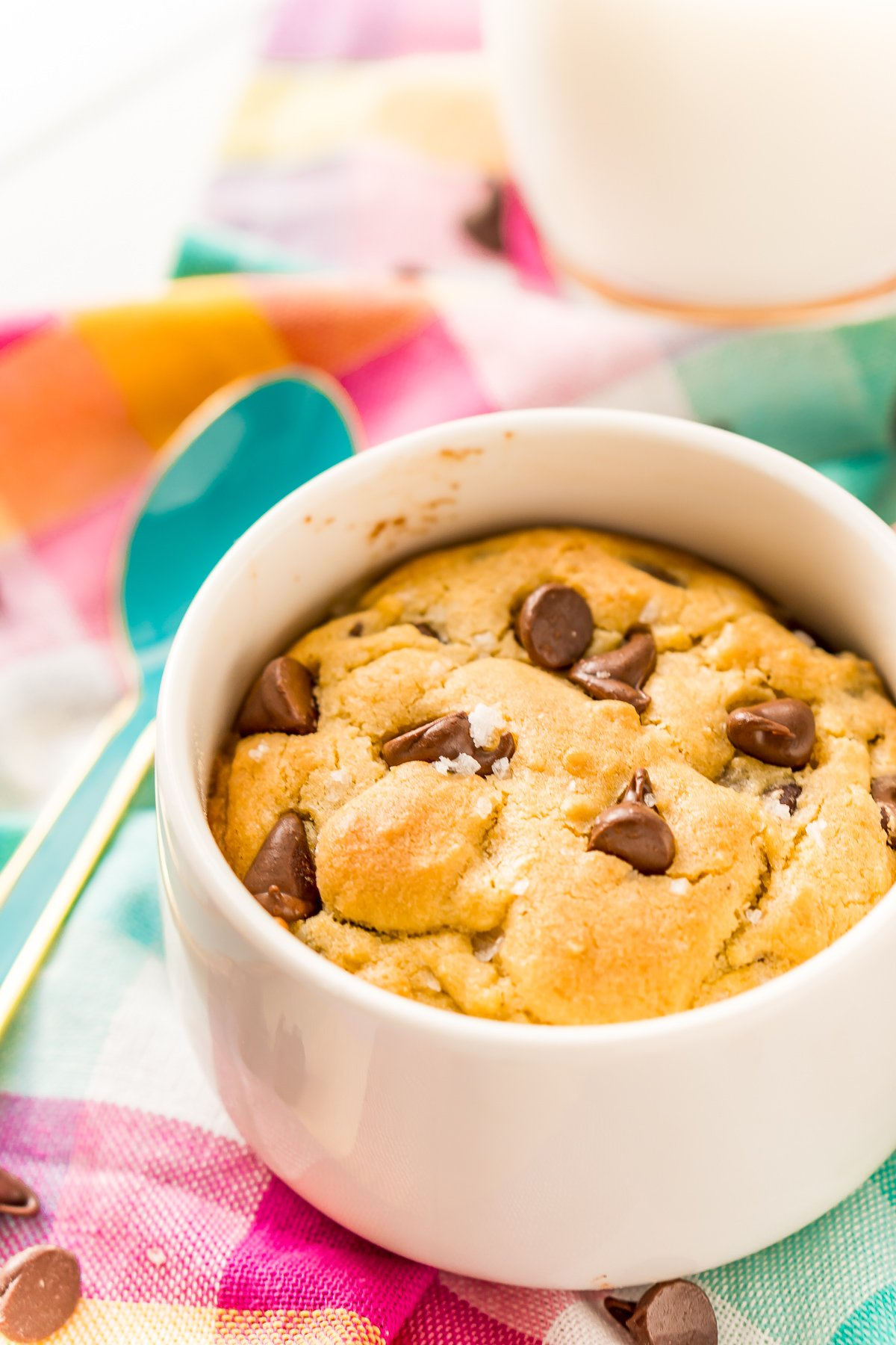 This Chocolate Chip Cookie For One is the perfect individual dessert when you're craving something sweet and don't want to make a huge batch of cookies!