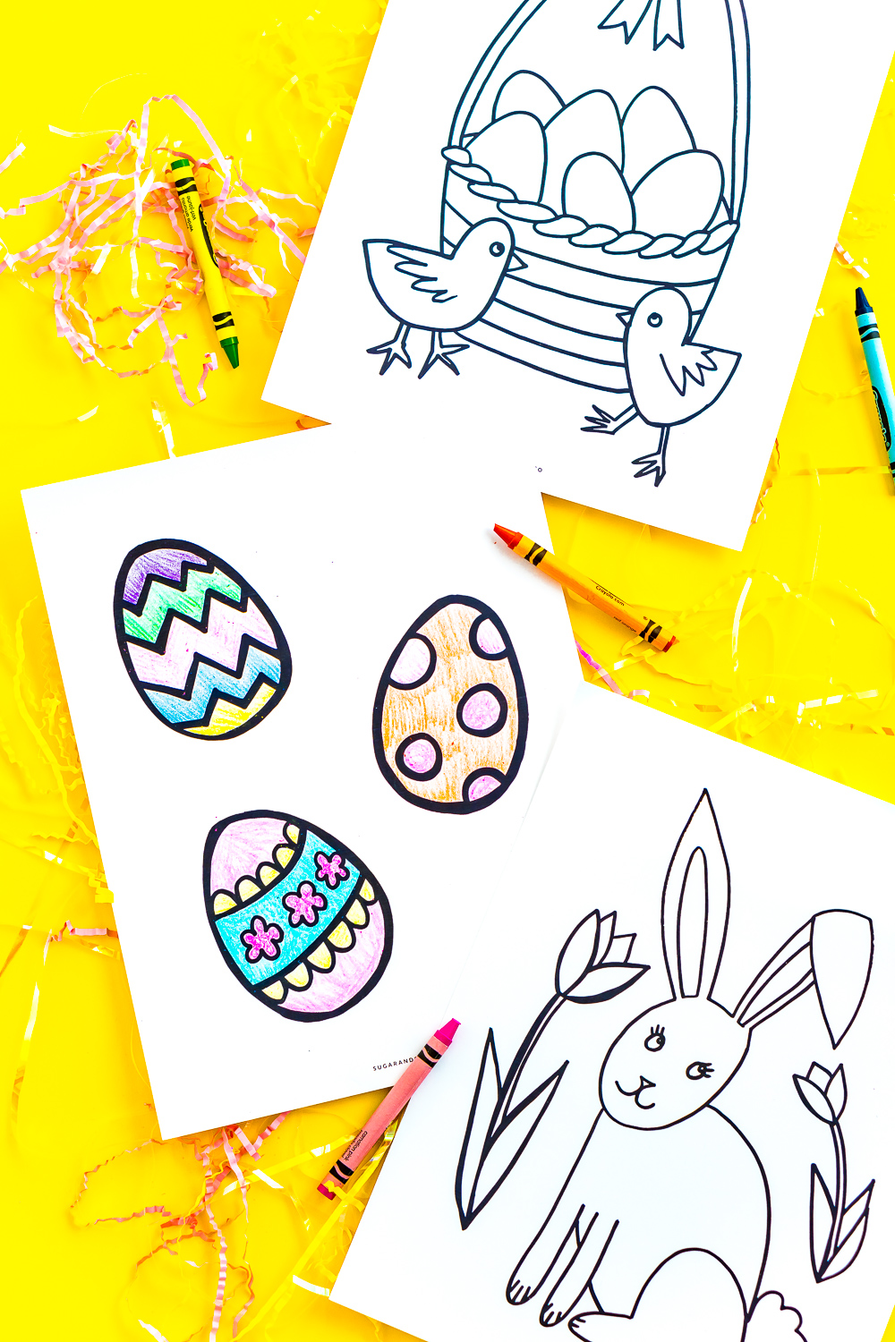 These easter coloring pages are a free printable activity for kids to do and celebrate the