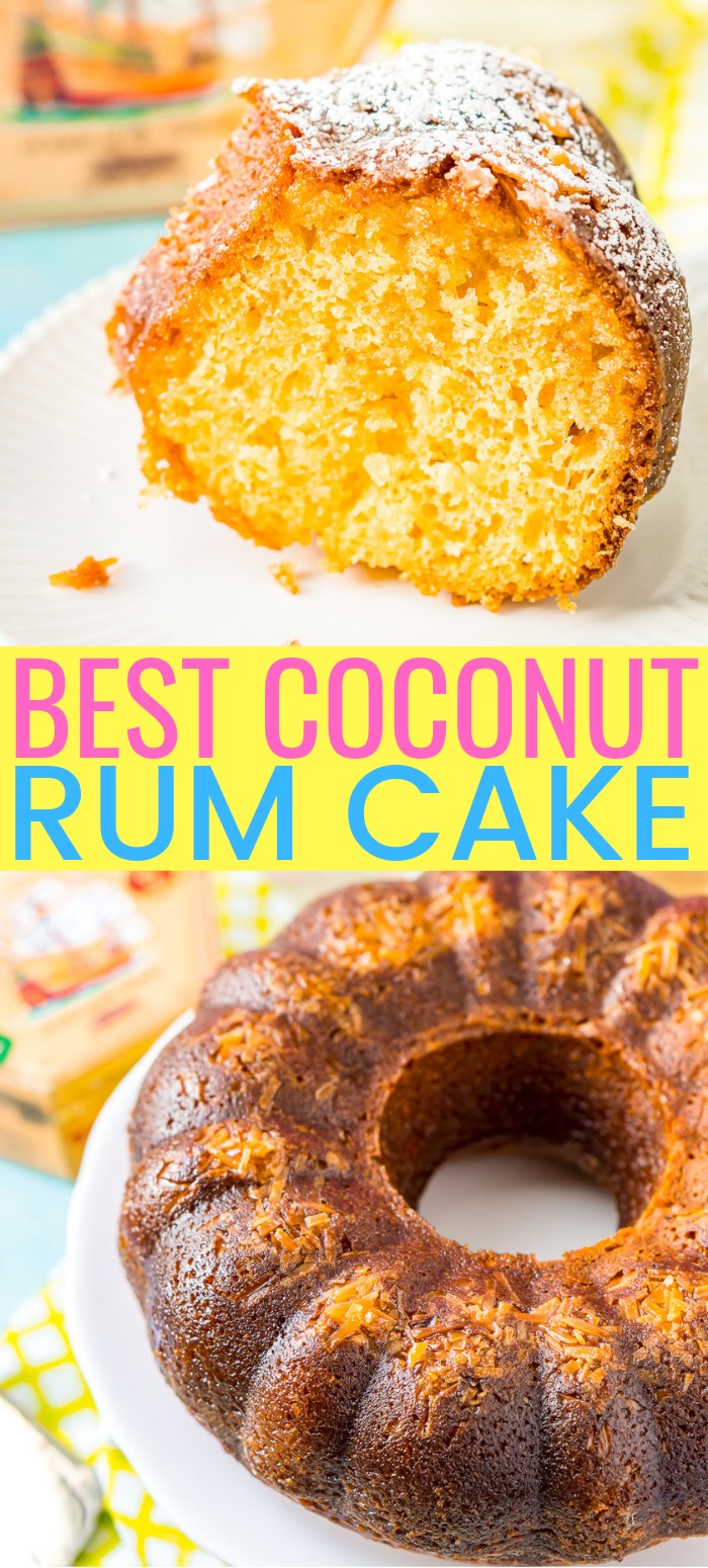 This Coconut Rum Cake adds even more Caribbean flavor to the classic cake recipe with the sweet infusion of coconut and a buttery glaze.
