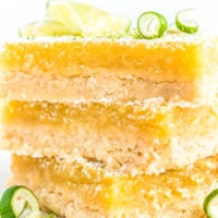 Three Lime bars stacked on top of each other.