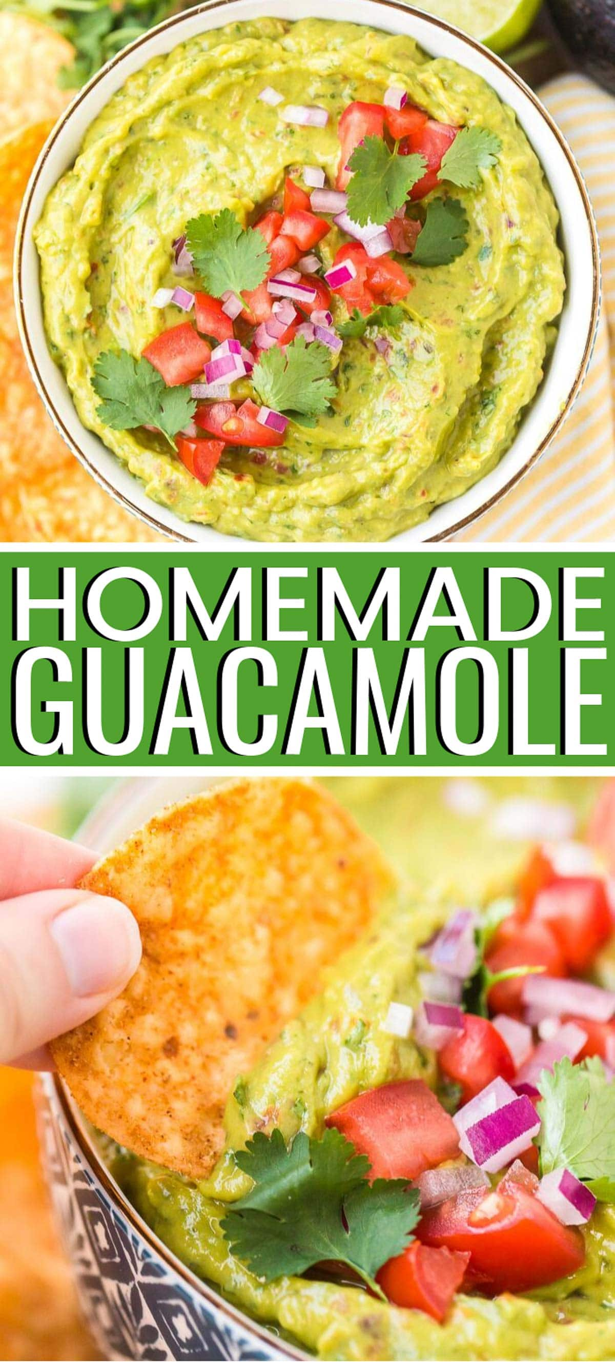 This Guacamole recipe is ultra creamy and flavorful made with fresh veggies and herbs and a hint of lime juice and a touch of heat! This recipe some great tips for making this addictive appetizer! via @sugarandsoulco