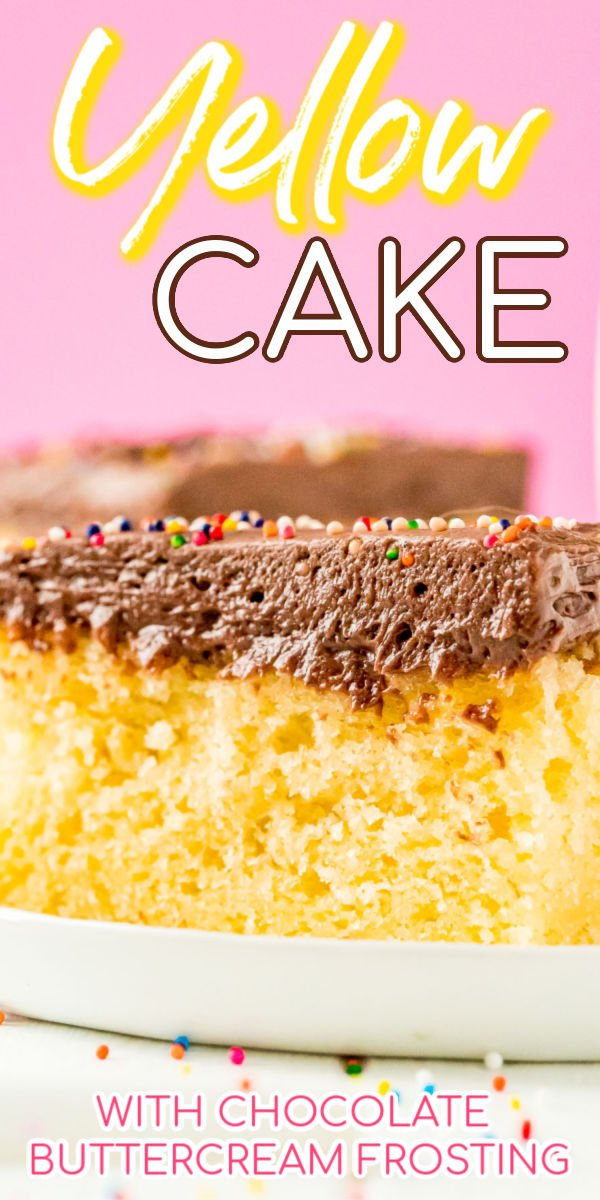 Yellow Cake is an old fashioned cake made with a rich blend of butter, eggs, and buttermilk for a tender butter cake that's perfect for birthdays and everyday celebrations! via @sugarandsoulco