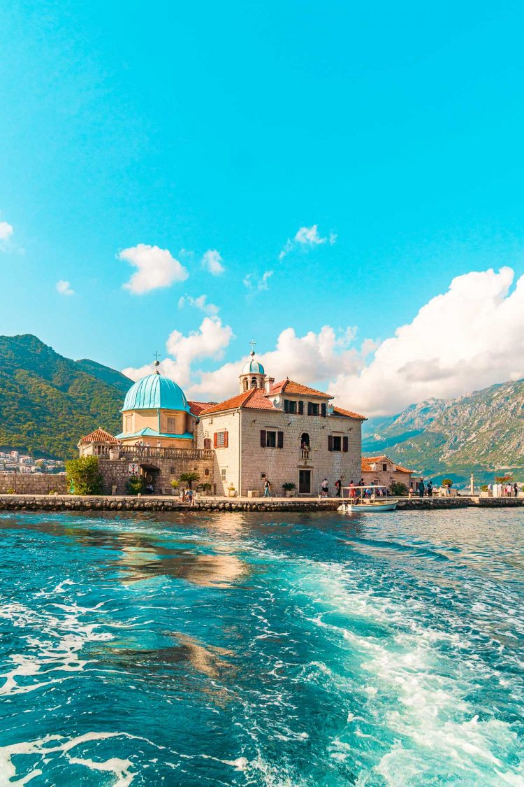 Our Lady Of The Rocks Church in Perast, Montenegro
