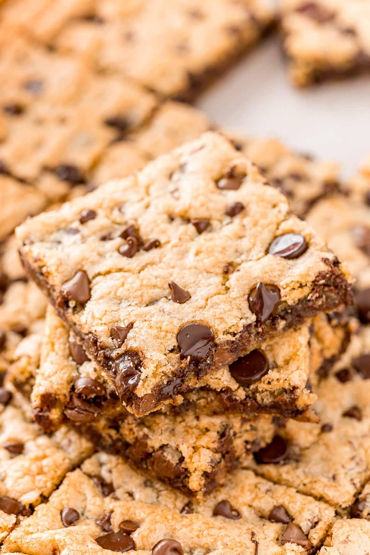 Chocolate Chip Pan Cookies Sugar And Soul