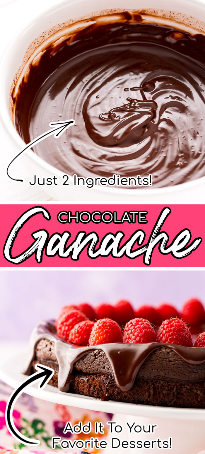 Looking for the perfect chocolate filling, topping, and more for your favorite desserts? This Chocolate Ganache is just the thing! Learn how to make this easy ganache recipe with just 2 ingredients – heavy cream and bittersweet dark chocolate – and 10 minutes with this step by step guide! via @sugarandsoulco