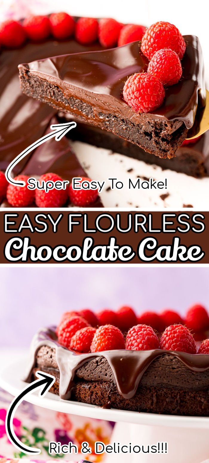 This Flourless Chocolate Cake recipe only requires ingredients you likely already have in your pantry and refrigerator! And it's sure to impress any chocolate lover with its fudgy-like texture that's rich with flavor!