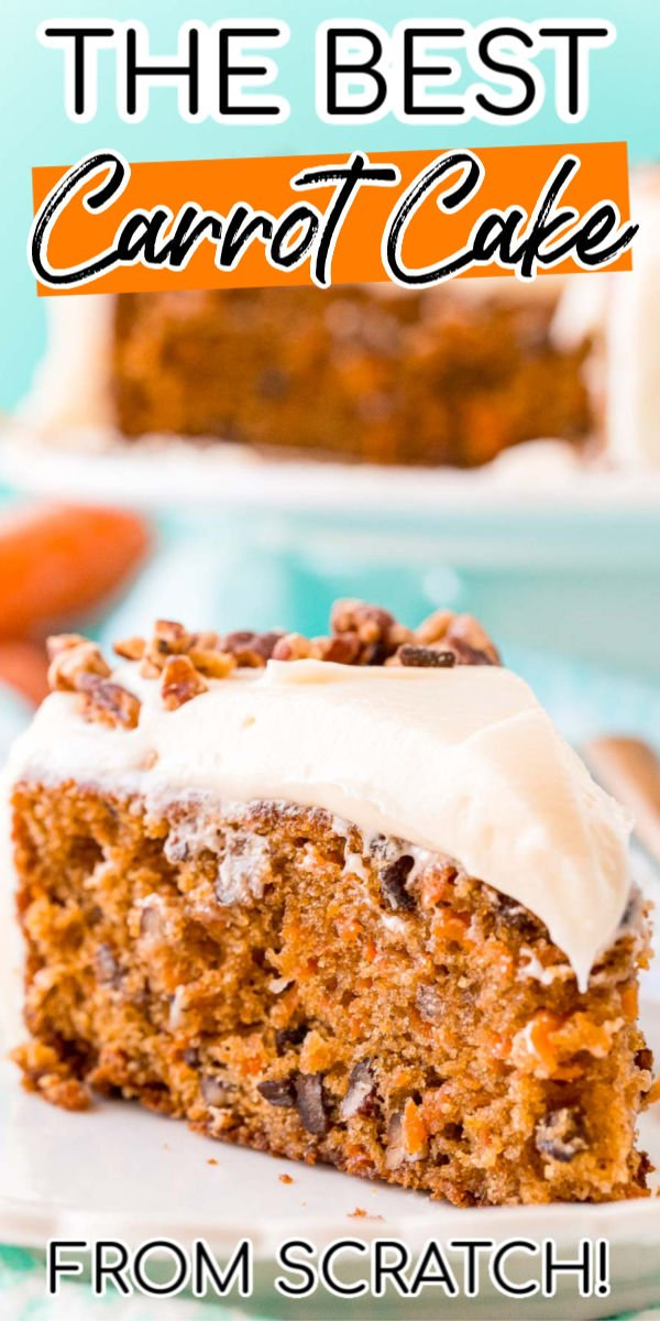 This is the BEST Carrot Cake Recipe if you love this classic dessert! Made with tart currants, aromatic spices, toasted pecans, and a rich cream cheese frosting, you'll get rave reviews every time you make this confection.  via @sugarandsoulco