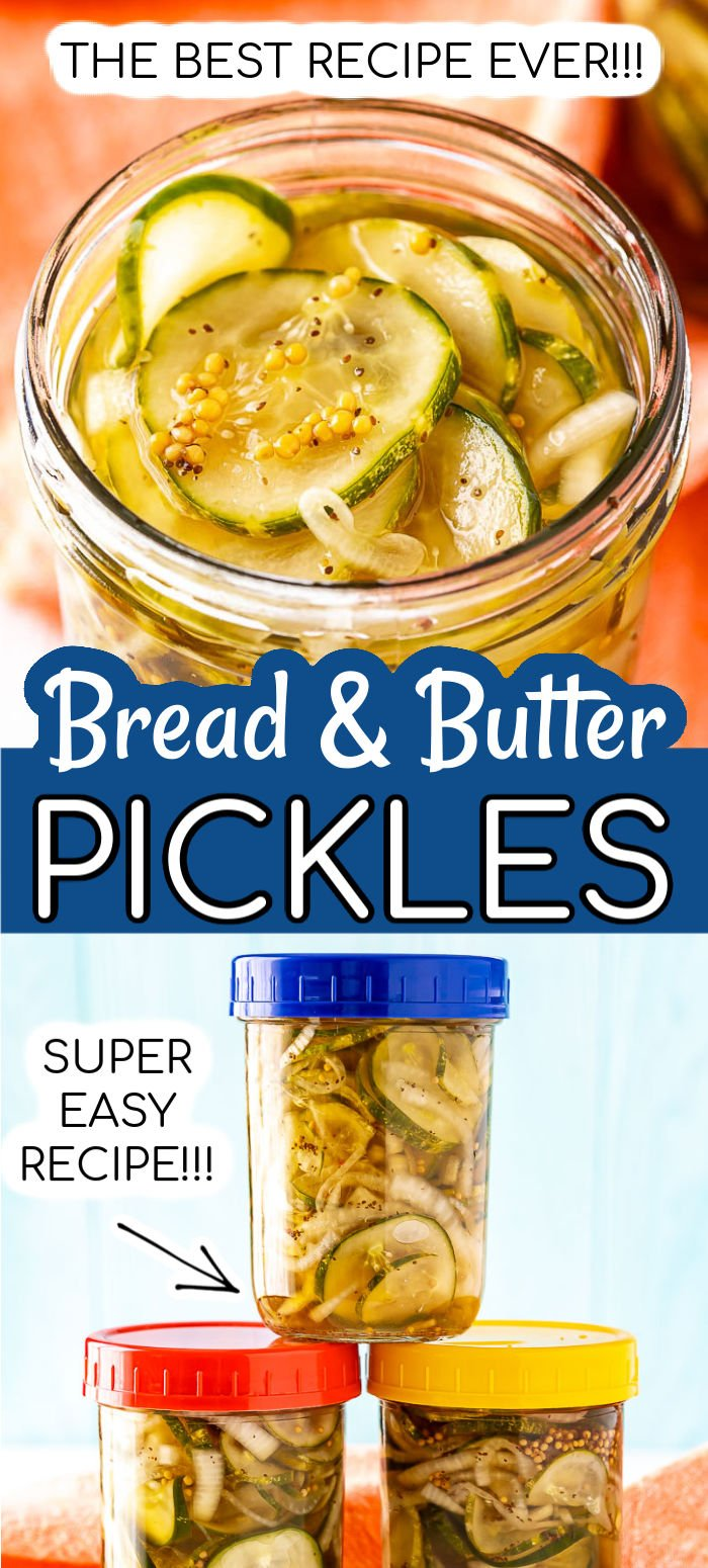 This recipe for homemade bread and butter pickles is easy, delicious, and doesn't require canning. Just 15 minutes of prep and let your refrigerator do the rest of the work! via @sugarandsoulco