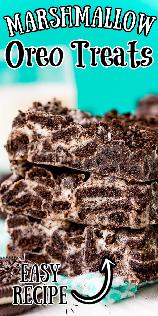 Super easy recipe - These Marshmallow Oreo Treats are a gooey, chocolaty, no-bake treat made with just 3-ingredients! This dessert has tons of sweet marshmallows and cookies 'n cream flavor!  via @sugarandsoulco