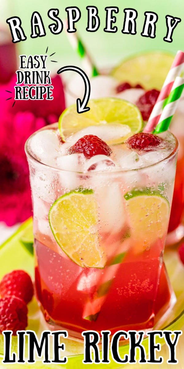 This Raspberry Lime Rickey Recipe is a sweet, tart, and oh-so refreshing drink made with lime juice, raspberry simple syrup, and club soda. This mocktail is a New England favorite and you can add a splash of gin if you want it spiked! via @sugarandsoulco