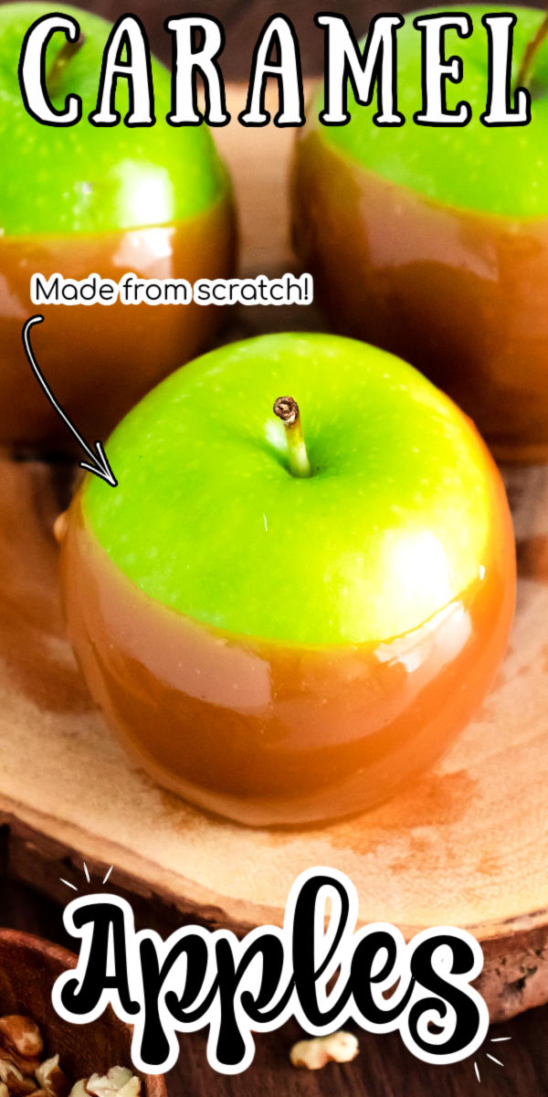 Caramel Apples are a deliciously sticky, sweet, and seasonal treat that kids and adults both love! Enjoy plain or decorate them with M&Ms, toffee, Oreos, and nuts, or dip or drizzle them with chocolate! via @sugarandsoulco