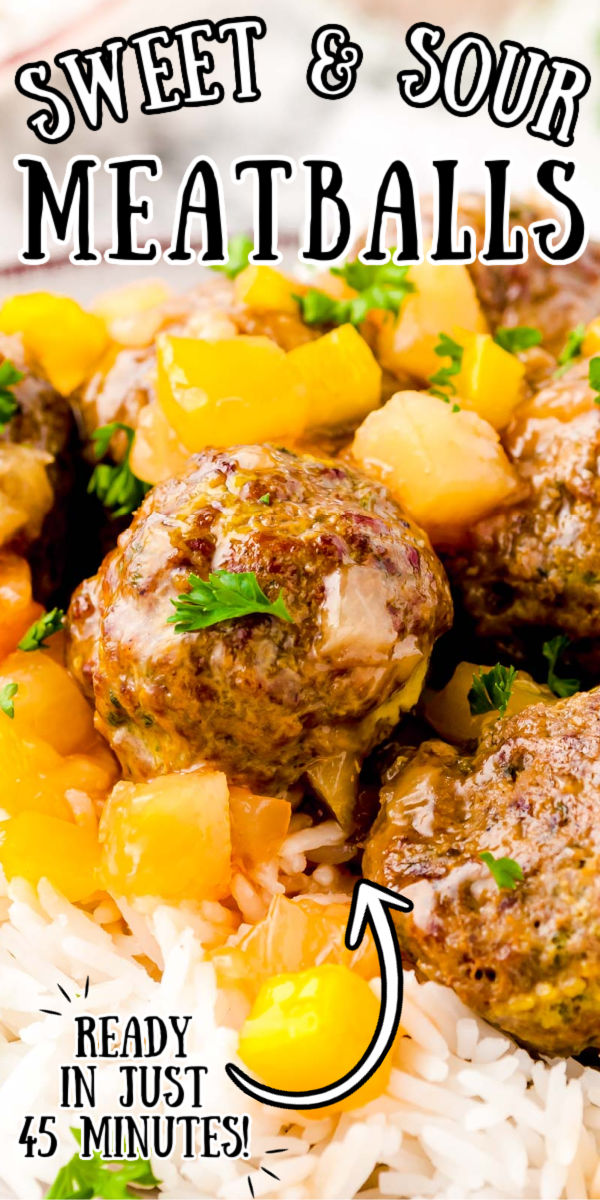 Easy and flavorful Sweet and Sour Meatballs Recipe are drenched in a tangy sauce of brown sugar, pineapple, soy sauce, vinegar, and yellow peppers. 