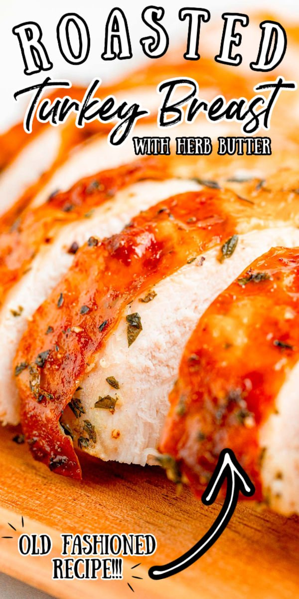 This Herb Roasted Turkey Breast recipe is your shortcut to a flavorful Thanksgiving turkey! The meat is coated with an herb-infused butter that takes only 5 minutes to prep.  via @sugarandsoulco
