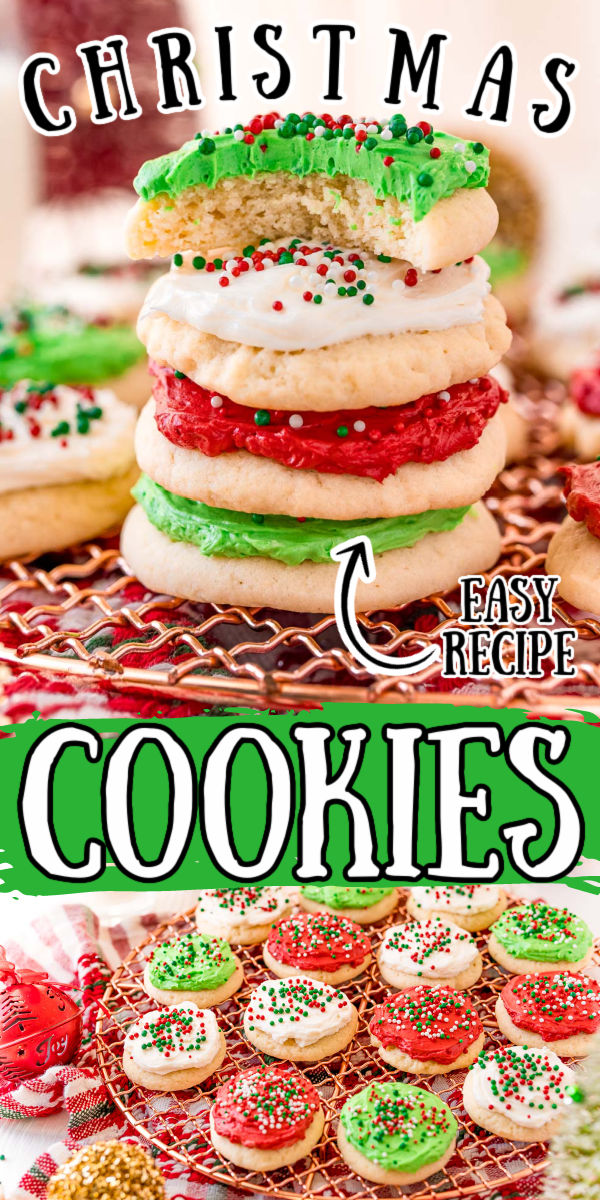 This Soft Christmas Sugar Cookie recipe makes the softest sweet cookies that are perfect for decorating with the kids, leaving out for Santa on Christmas Eve, or as a go-to cookie throughout the holiday season!  via @sugarandsoulco