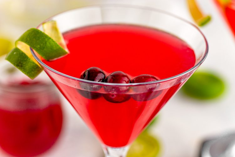 Cranberry Cosmopolitan is a quick and simple cocktail that adds an extra cranberry kick to a classic cosmo recipe. Whether you are hosting a party or attending a friendly social, this drink will pave the pathway to a great time!