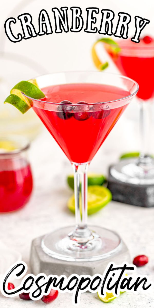 Cranberry Cosmopolitan is a quick and simple cocktail that adds an extra cranberry kick to a classic cosmo recipe. Whether you are hosting a party or attending a friendly social, this drink will pave the pathway to a great time! via @sugarandsoulco