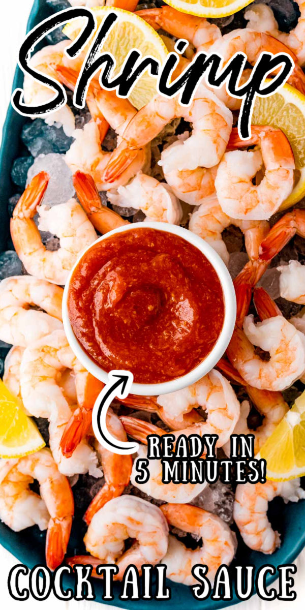 Shrimp Cocktail is the appetizer everyone looks forward to! This Homemade Cocktail Sauce packs a punch of flavor using ingredients like ketchup, horseradish, fresh lemon juice, and tabasco sauce to take your Shrimp Cocktail to a restaurant-worthy level!  via @sugarandsoulco
