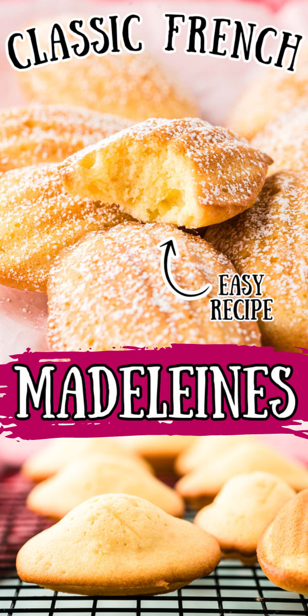 French Madeleines are light, airy, and buttery mini sponge cakes with a scalloped shell shape and golden crisp edges! These cakes are sweet with a hint of lemon, perfect for enjoying alongside a cup of hot tea or coffee! via @sugarandsoulco