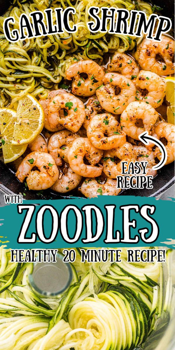 Lemon Garlic Butter Shrimp with Zucchini Noodles is an easy recipe that's cooked in just one pan and packed with fresh flavors! Break up your dinner routine by adding in this quick, healthy option that's ready in just 20 minutes to your meal plan! via @sugarandsoulco