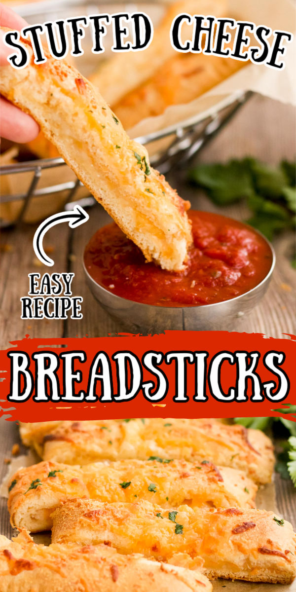 Cheesy Breadsticks are ready in just 20 minutes using crescent roll dough, cheese, garlic salt, and parsley! Any cheese lover will appreciate these as an appetizer or served alongside their favorite pizza, soup, or pasta dish!  via @sugarandsoulco