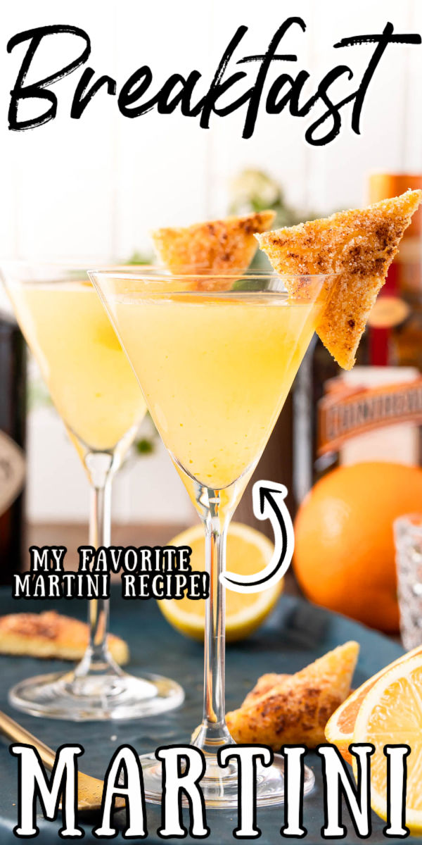 This Breakfast Martini is the perfect sipping cocktail that's sweet and citrusy while also being beautiful balanced and flavorful!  via @sugarandsoulco