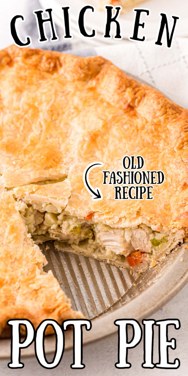 This Chicken Pot Pie is the ultimate comfort food dinner that's overflowing with a warm, hearty filling of carrots, potato, onion, celery, frozen peas, and tender, juicy pieces of chicken breast!  via @sugarandsoulco