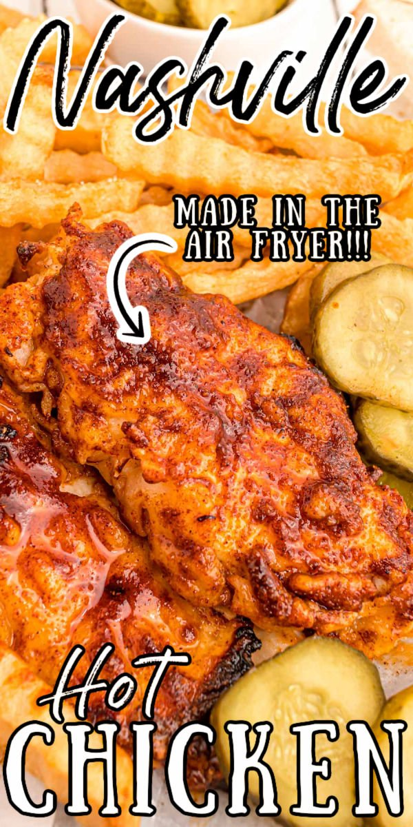 This Air Fryer Nashville Hot Chicken skips the deep-frying while still delivering juicy and tender chicken with a crunchy coating of spice that can be adjusted to taste!   via @sugarandsoulco