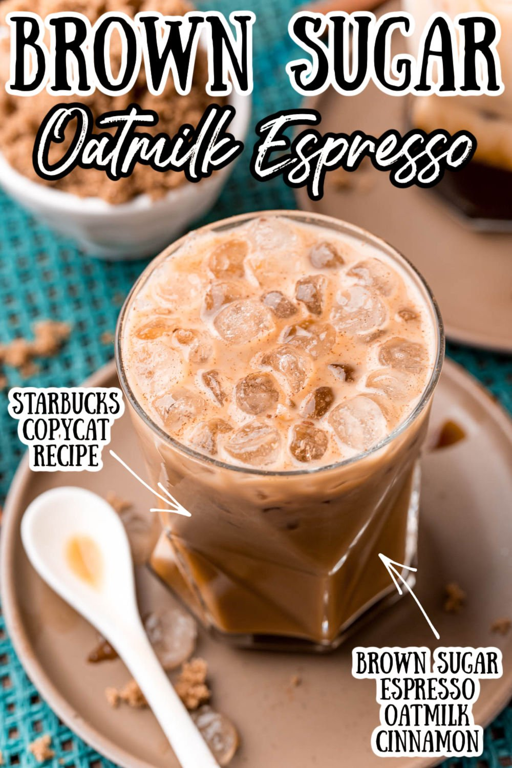 This Shaken Brown Sugar Oatmilk Espresso is a Starbucks Copycat recipe made with brown sugar simple syrup, espresso, oat milk, and cinnamon. It's easy, delicious, and in my opinion, even better than the original! via @sugarandsoulco