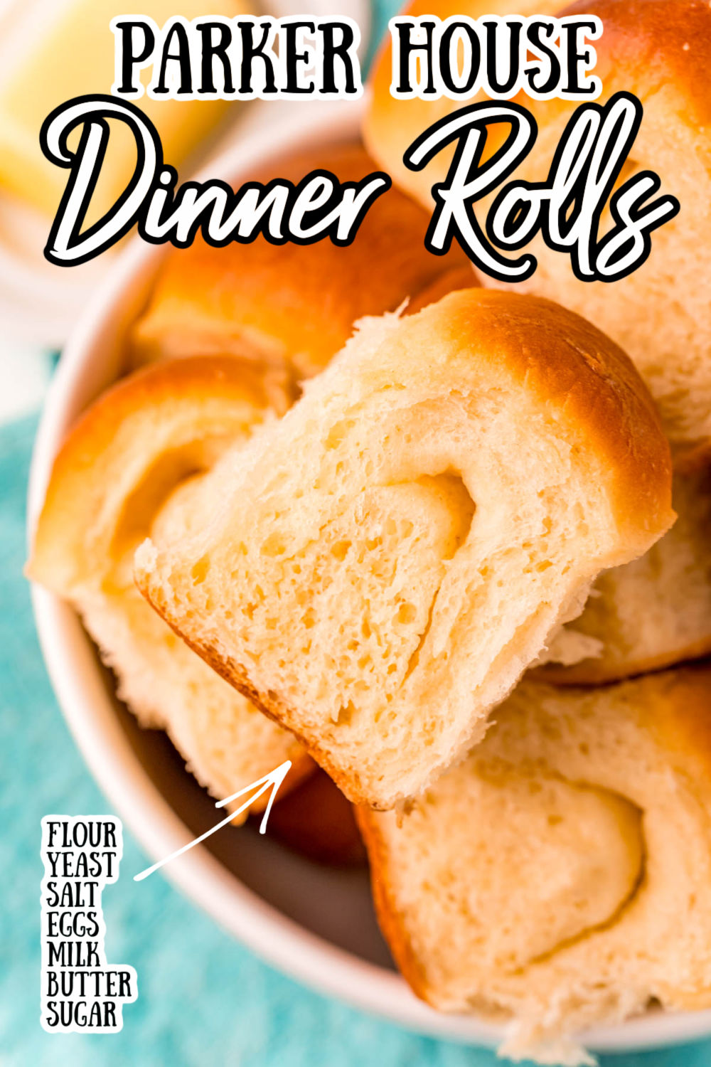 Parker House Rolls are incredibly buttery and rich while being perfectly fluffy, these yeast rolls will be a stand-out at your next family dinner! via @sugarandsoulco