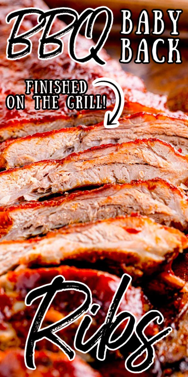 BBQ Baby Back Ribs On The Grill are rubbed with delicious spices and basted in your favorite barbeque sauce and a secret tip for ribs that are fall off the bone tender! via @sugarandsoulco