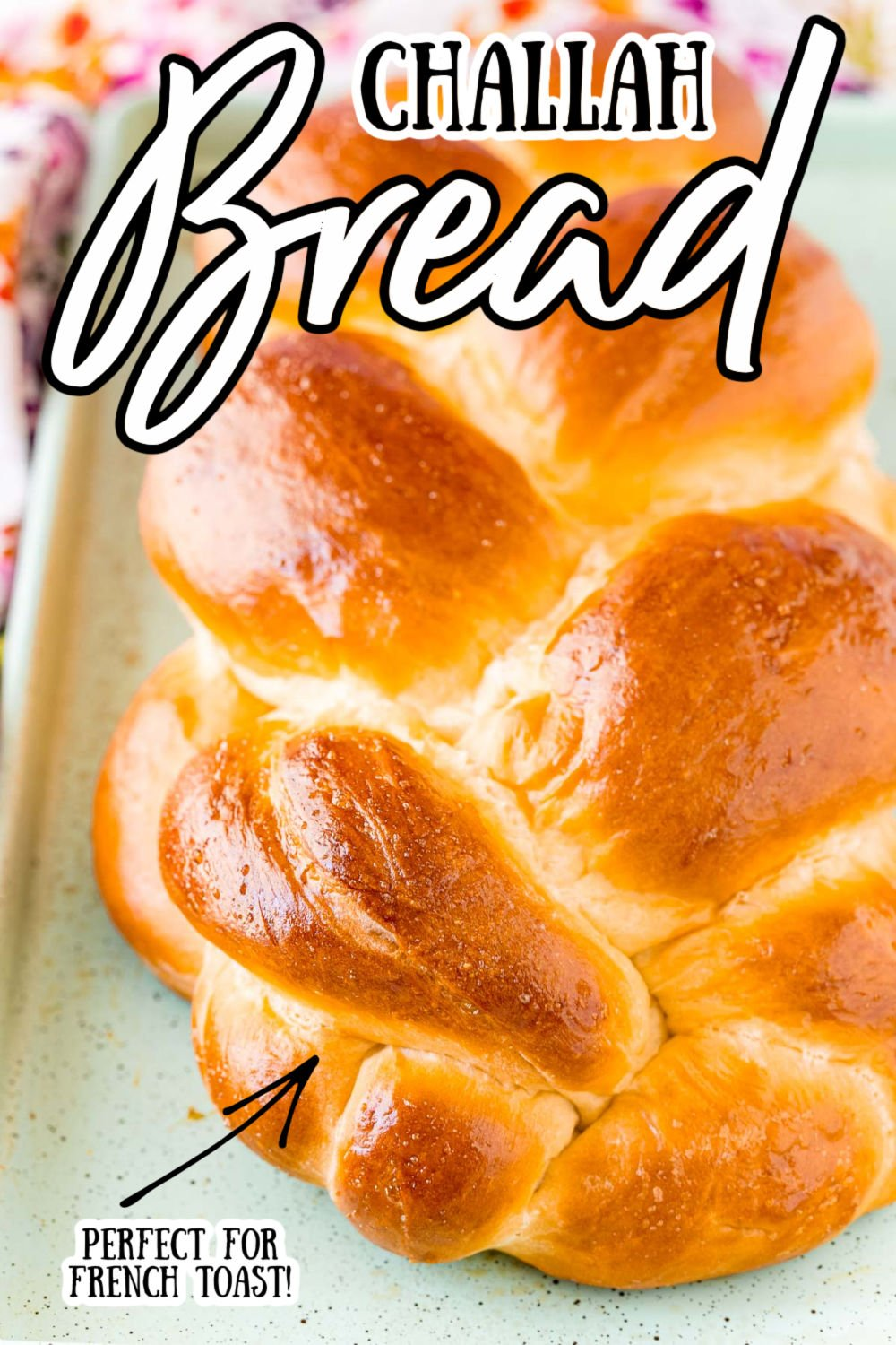 Challah Bread is a popular braided bread recipe made with a dough that's enriched with eggs and honey. It is lightly sweet and makes the most incredible French toast and grilled cheeses! via @sugarandsoulco