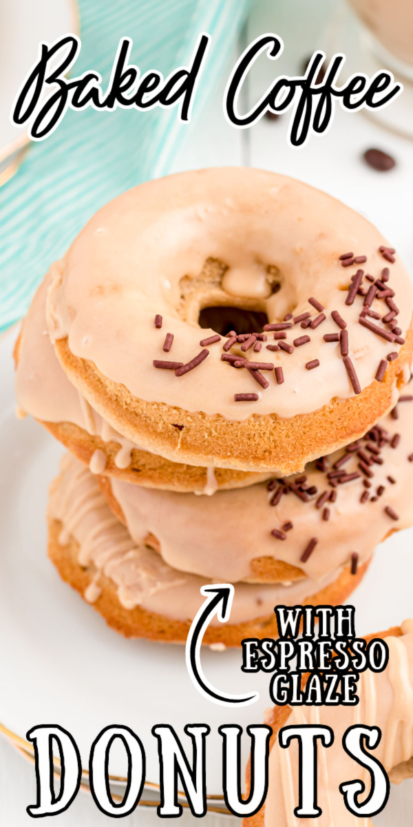 These Coffee Donuts have a dreamy light vanilla cake base infused with espresso flavor that are covered in a sweet coffee glaze! Ready in under an hour from start to finish! via @sugarandsoulco