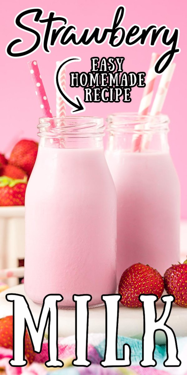 Homemade Strawberry Milk puts a tasty twist on a childhood favorite. Made with Strawberry Simple Syrup, it puts a fresh spin on the nostalgic treat.  via @sugarandsoulco