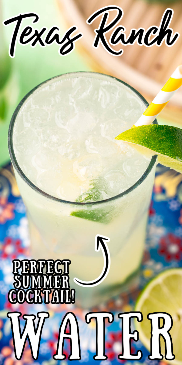 Ranch Water combines tequila, Topo Chico sparkling mineral water, and lime juice in the unofficial drink of West Texas! If you love margaritas, then you're going to love this light and refreshing cocktail that's perfect for those balmy summer days! via @sugarandsoulco