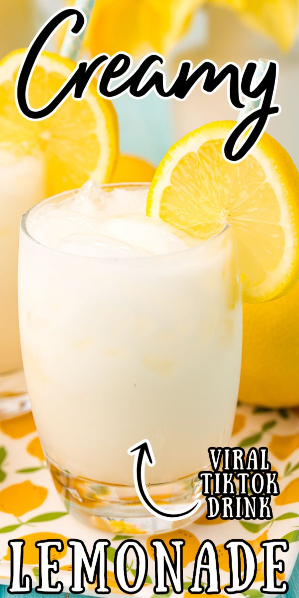This Creamy Lemonade is another delicious TikTok recipe that's easy to make using only 3 ingredients and ready to enjoy in just 15 minutes! Makes a large pitcher that's perfect for serving at all of your summertime parties! via @sugarandsoulco