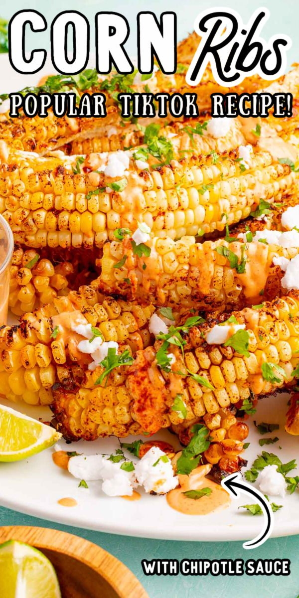 Corn Ribs slices ears of fresh sweet corn into strips and seasons them before they get charred up to perfectly sweet and slightly chewy corn! Prep this TikTok side dish in just 15 minutes! via @sugarandsoulco