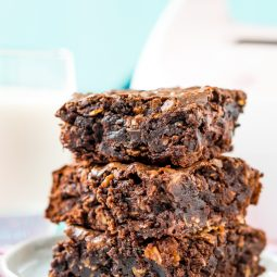 Lactation Brownies are an easy dessert that helps increase milk production with added ingredients like coconut milk, Brewer's yeast, and oatmeal!